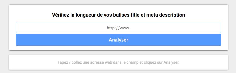 Outil d'analyse du titre et de la description de vos pages html